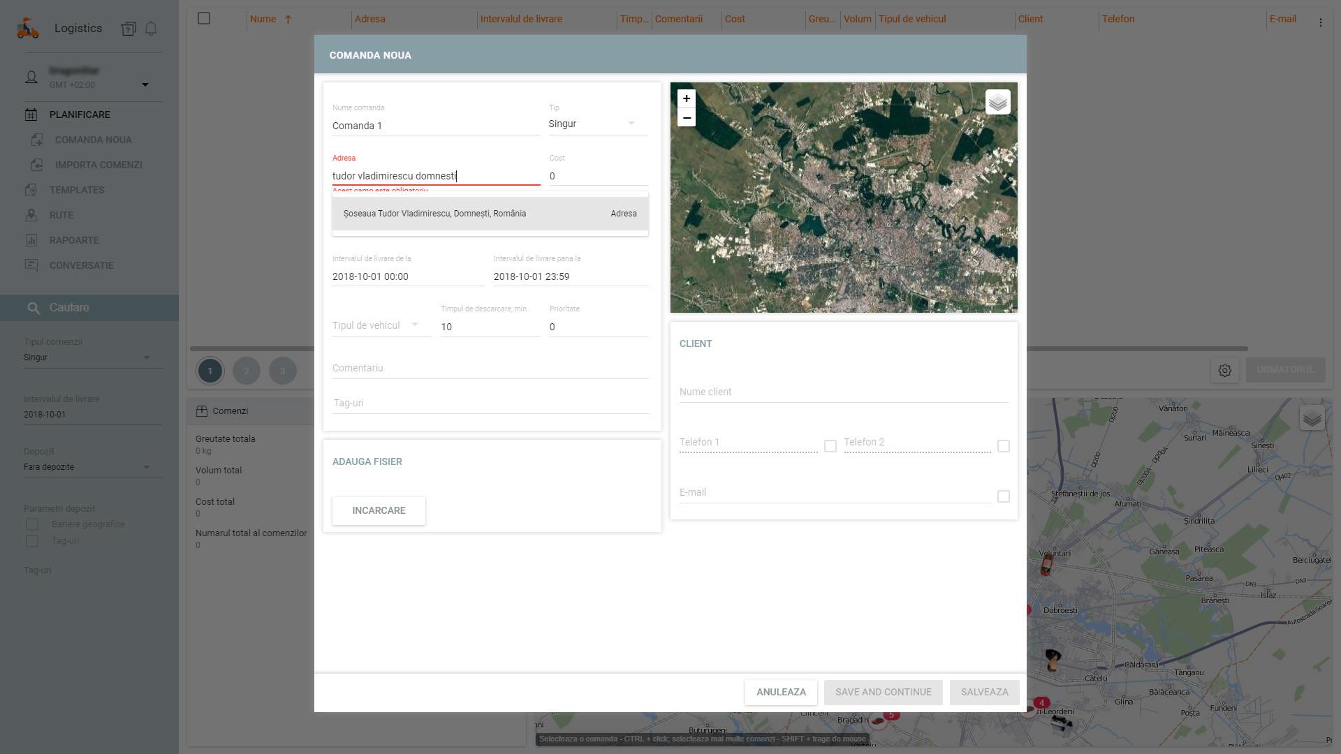 ProGPS monitorizare GPS - modul logistica